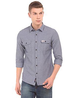 U.S. Polo Assn. Denim Co. Long Sleeve Slim Fit Shirt