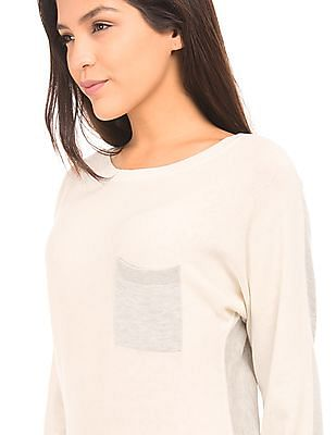Nautica Contrast Panelled Sweater