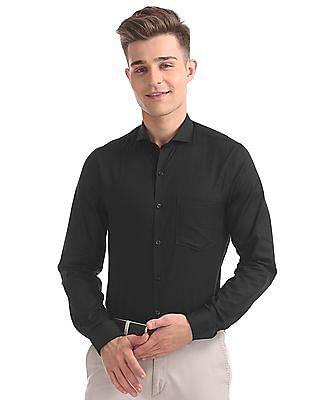 Excalibur Slim Fit Patterned Check Shirt