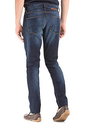 True Blue Mid Rise Slim Fit Jeans