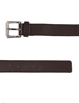 Colt Brown Metallic Buckle Tonal Stitch Belt