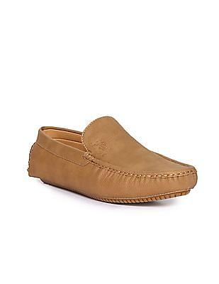 U.S. Polo Assn. Square Toe Solid Loafers