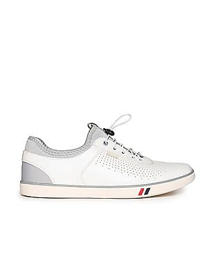 Flying Machine Perforated Toggle Sneakers