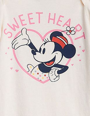 GAP Baby White Disney Minnie Mouse Bodysuit
