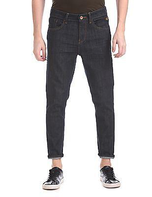 Flying Machine MJ Mankle Slim Fit Crinkled Jeans