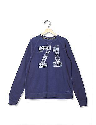 Ed Hardy Round Neck Printed Sweatshirt