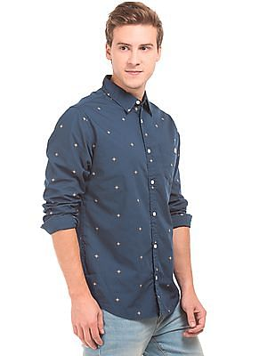 Aeropostale Printed Long Sleeve Shirt