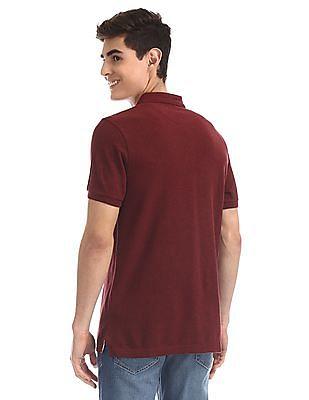 U.S. Polo Assn. Red Heathered Cotton Polo Shirt