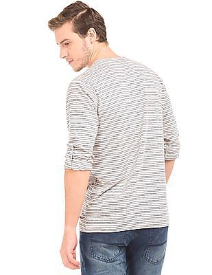 Cherokee Heathered Slim Fit Henley T-Shirt