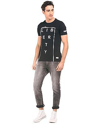 Flying Machine Printed Crew Neck T-Shirt