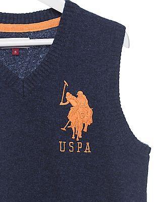 U.S. Polo Assn. Kids Boys Regular Fit V-Neck Sweater Vest