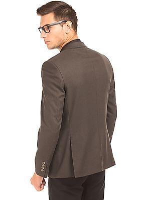 Arrow Puppytooth Pattern Regular Fit Blazer