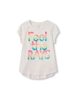 The Children's Place Girls Short Sleeve Graphic Active Top