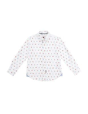 U.S. Polo Assn. Kids Boys Printed Cotton Shirt