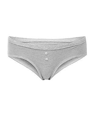 Aeropostale Heathered Striped Hipster Panties