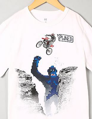 GAP Toddler Boy White Graphic T-Shirt