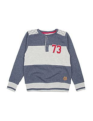 Cherokee Boys Striped Speckled Sweatshirt