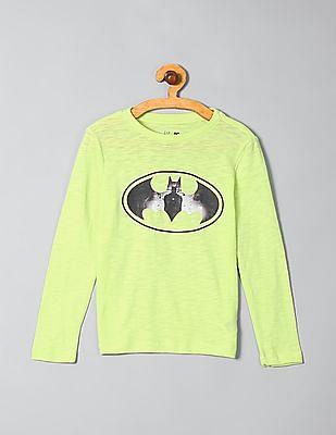 GAP Boys Long Sleeve Batman Graphic Tee