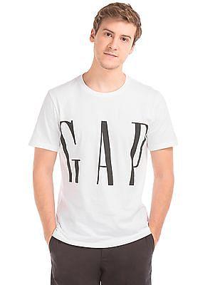 GAP Crop Logo Crew Neck Tee