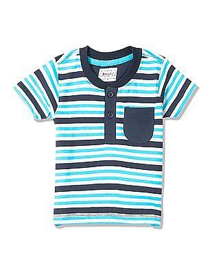 Donuts Boys Striped Henley T-Shirt