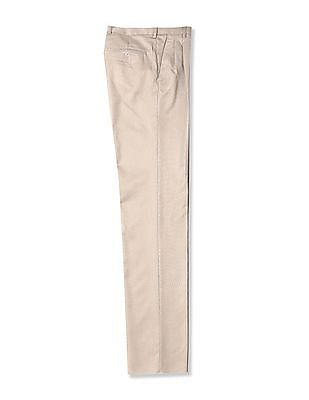 Arrow Regular Fit Pleated Trousers