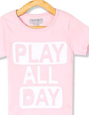 Cherokee Girls Print Short Sleeve T-Shirt