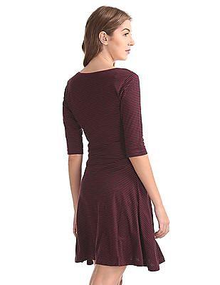 SUGR Striped Skater Dress