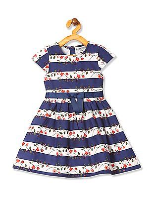 Cherokee Girls Cap Sleeve Fit And Flare Dress