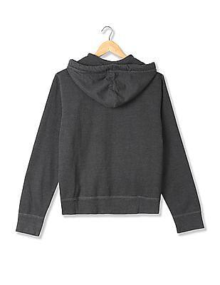 Aeropostale Hooded Appliqued Sweatshirt