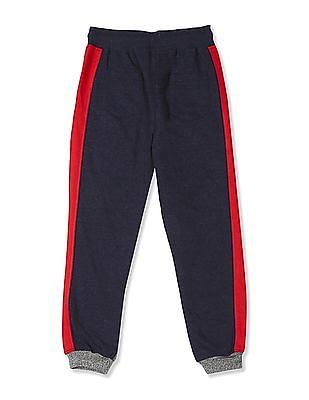 Cherokee Blue Boys Drawstring Waist Colour Block Joggers