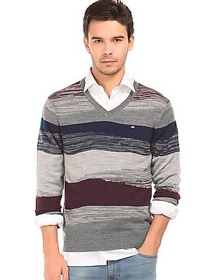 Arrow Sports Patterned Regular Fit Sweater