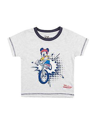 Colt Boys Mickey Mouse Print Round Neck T-Shirt