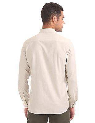 Excalibur Semi Cutaway Collar Patterned Shirt