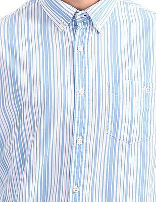 Aeropostale Button Down Striped Shirt