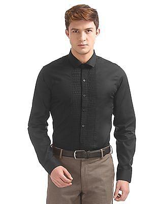 Excalibur Pin Tuck Panel Slim Fit Shirt