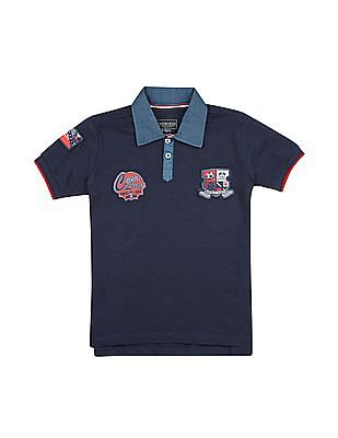 Cherokee Boys Appliqued Cotton Polo Shirt