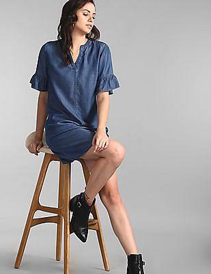 GAP Blue Tencel Dress