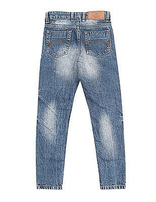 Cherokee Boys Slim Fit Distressed Jeans