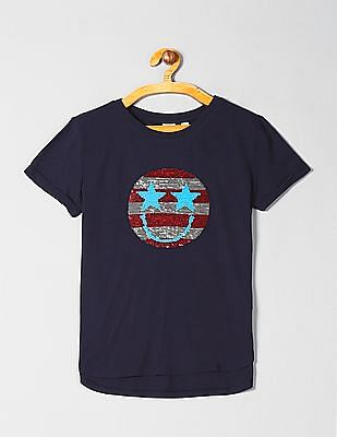GAP Girls Flippy Sequin Graphic T-Shirt