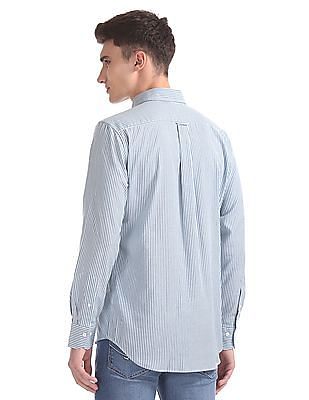 Gant Tech Prep Oxford Stripe Hidden Button Down Shirt