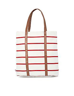 c97465f5dc1 Buy Women Striped Canvas Tote Bag online at NNNOW.com
