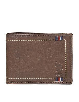 U.S. Polo Assn. Contrast Stitch Leather Wallet