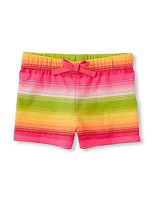The Children's Place Toddler Girl Multi-Colour Printed Knit Shorts
