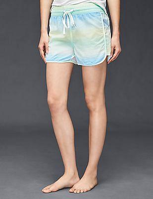 GAP Women Blue Dreamer Print Shorts in Poplin