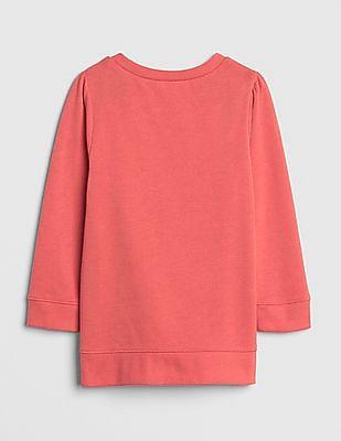 GAP Baby Metallic 3D Applique Tunic Sweatshirt