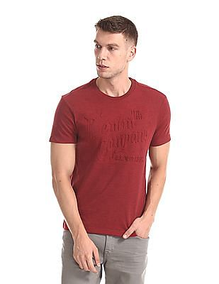 U.S. Polo Assn. Denim Co. Embossed Round Neck t-Shirt