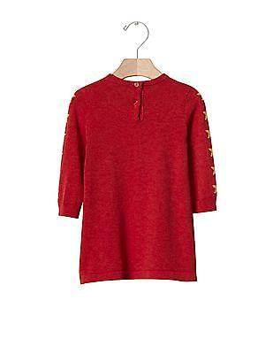 GAP Baby Red Junk Food 153 Wonder Woman Sweater Dress