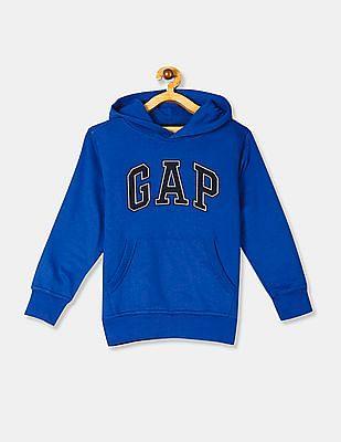 GAP Blue Boys HD Logo Hooded Sweatshirt