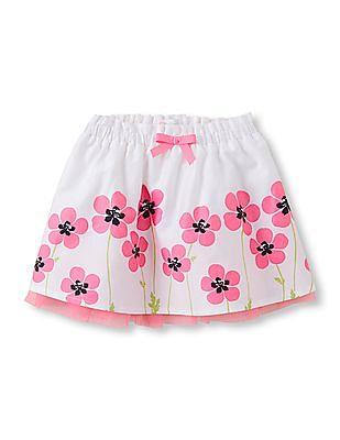 The Children's Place Toddler Girl Ruffle Waist Flowers Flare Skirt