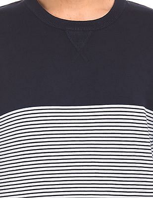 Izod Crew Neck Striped Sweater
